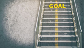 Grungy stairway to GOAL business concept Stock Image
