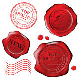 Grungy stamp. Top quality isolated over white Royalty Free Stock Photography