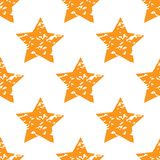 Grungy star pattern Stock Image