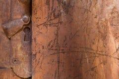 Grungy stara ośniedziała drzwiowa tekstura i tło Fotografia Royalty Free