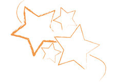Grungy stars vector. Grungy stars in white background also vector Stock Image
