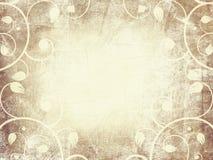 Grungy stary kwiecisty ramowy projekta papier Obraz Royalty Free