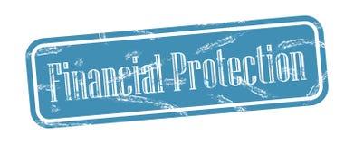 Grungy Stempel des Finanzschutzquadrats Lizenzfreie Abbildung