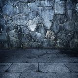 Grungy stone chamber Royalty Free Stock Photography