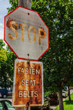 Grungy Stop Sign Stock Photography