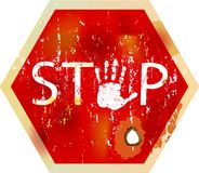Grungy stop sign Stock Images
