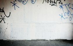 Grungy straatmuur Royalty-vrije Stock Afbeelding