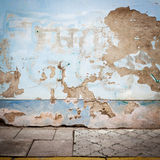 Grungy street wall Royalty Free Stock Images