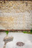 Grungy street wall Stock Images