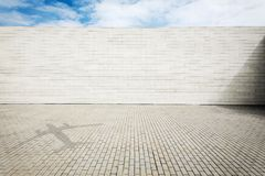 Grungy street wall Stock Photography
