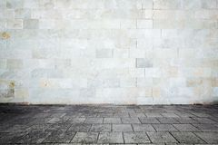 Grungy street wall. Urban grungy street wall, may be used as background or texture royalty free stock images