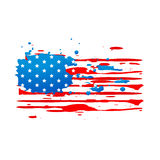 Grungy Style American Flag Stock Image