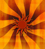 Grungy sunburstbakgrund Royaltyfri Bild