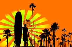 Grungy surf background Royalty Free Stock Image