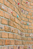 Grungy surface of an artificial rock climbing wall Royalty Free Stock Image