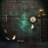 Grungy Surreal scene , slightly steampunk Royalty Free Stock Photography
