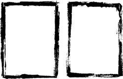 grungy svart ram Fotografering för Bildbyråer