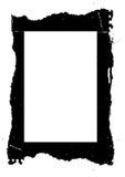 grungy svart ram Royaltyfri Foto