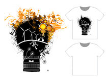 Grungy T-shirt Design - Vector Templates Royalty Free Stock Image