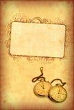 grungy tappningwatch för bakgrund stock illustrationer