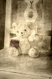 Grungy teddy bear Royalty Free Stock Image
