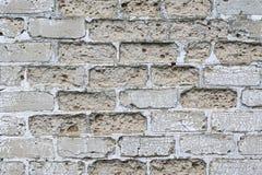 Grungy tegelstenvägg för prydnadpapper för bakgrund geometrisk gammal tappning detaljerad textur Royaltyfria Foton