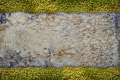 Grungy texture. With strips of grass Royalty Free Stock Images