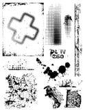 grungy texturer Royaltyfria Bilder