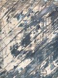 Grungy texturerad trätextur med skrapad målarfärg Fotografering för Bildbyråer