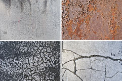 Grungy textures - Set 1 Royalty Free Stock Photography