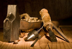 Grungy tools royalty free stock image
