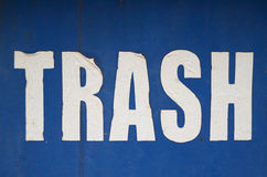 Grungy Trash Sign Royalty Free Stock Image