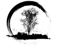 grungy tree Arkivbilder