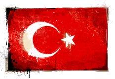 Grungy Turkey flag Stock Photos