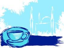Grungy Turkse koffieachtergrond stock illustratie
