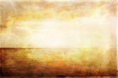Grungy uitstekend beeld van licht, overzees en hemel royalty-vrije illustratie