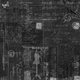 Grungy uitstekend zwart van de bordcollage ontwerp als achtergrond Royalty-vrije Stock Afbeelding