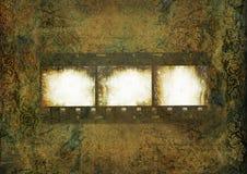 Grungy uitstekende achtergrond met film voor foto Stock Fotografie