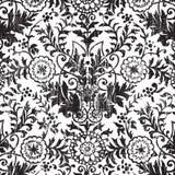 Grungy uitstekende bloemenachtergrond van het damastplakboek stock illustratie