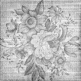 Grungy uitstekende bloementextuurachtergrond stock fotografie