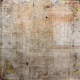 Grungy Uitstekende Collage met Tekst Bruine donkere achtergrond vector illustratie