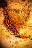 Grungy uitstekende kaart van de V.S. Stock Afbeeldingen
