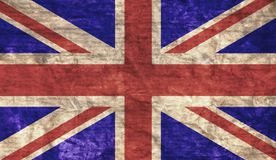 Grungy UK Flag. Grungy aged and distressed United Kingdom flag royalty free stock photography