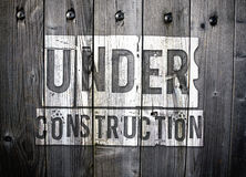 Grungy Under Construction sign Royalty Free Stock Image