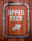 Grungy Upper Desck Sign Royalty Free Stock Image