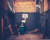 Grungy Urban Alley. Retro Style Image Of A Grungy Urban Alley Stock Image