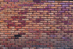 Grungy urban background of a brick wall with an old vintage still life Royalty Free Stock Images
