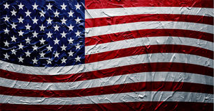 Grungy USA Flag Paint Texture. EPS 8 Stock Images