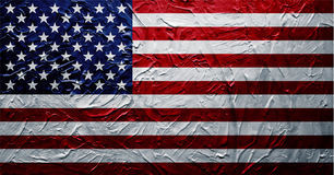 Grungy USA Flag Paint Texture. EPS 8 Royalty Free Stock Image