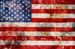 Grungy USA flag, stars and stripes. Rough and distressed, design elemnet or symbol royalty free stock photography